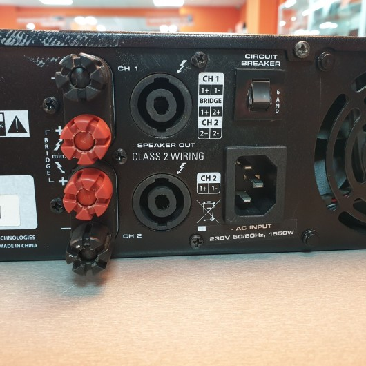 Amplificator de putere Samson SX1200 - 2X 450W 4 OHm, 2x 300W 8 OHm
