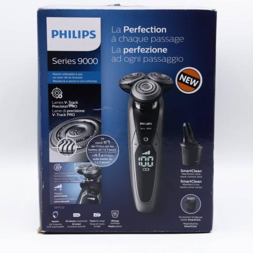 Aparat de ras Philips Series 9000 S9711/31, Autocuratare, Trimmer