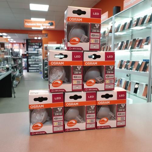 Bec LED Osram Dimmable GU5.3, MR16, 12V, 2700K, 4W