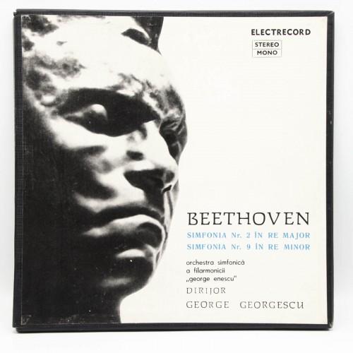 Beethoven Simfonia 2, 9 - Filarmonica George Enescu - Disc vinil