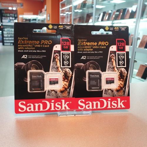Card de memorie microSDXC SanDisk Extreme PRO 128 Gb, 170 Mb/s