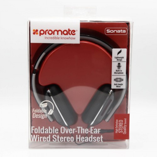Casti Over-ear cu fir PROMATE Sonata, Microfon