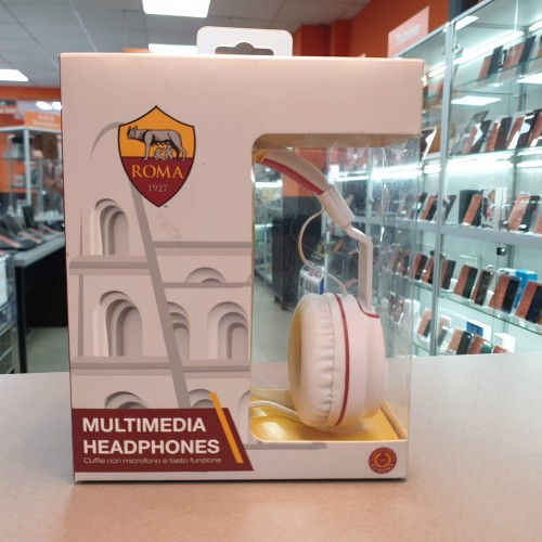 Casti audio cu fir Techmade TM-IP952, Microfon, Produs oficial AS Roma