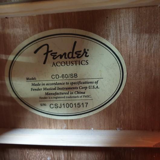 Chitara Acustica Fender CD-60/SB