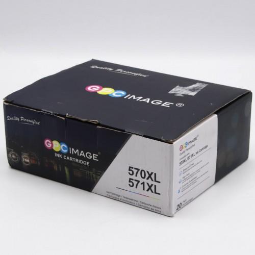 GPC Image 570XL, 571XL, Set 20x Cartus pentru Canon PIXMA MG5700, MG5750, MG5751, MG6850, MG6851, TS5050, TS5051, TS6050