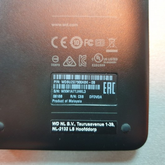 HDD Extern WD Elements 750 Gb WDBUZG7500ABK