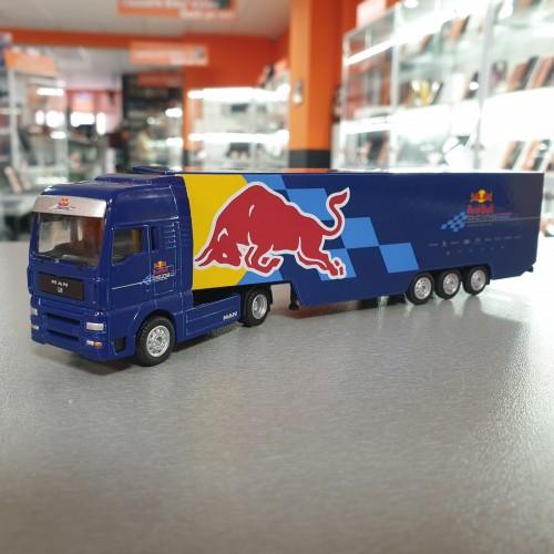 Macheta auto MAN Red Bull Racing Truck Majorette 1/87