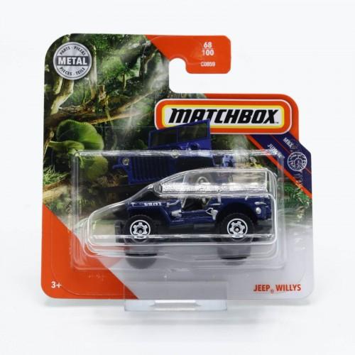 Macheta auto Matchbox Jeep Willys, 1:64