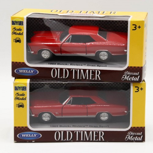 Macheta auto Welly Die Cast Metal Old Timer 1965 Buick Riviera Gran Sport 1:34