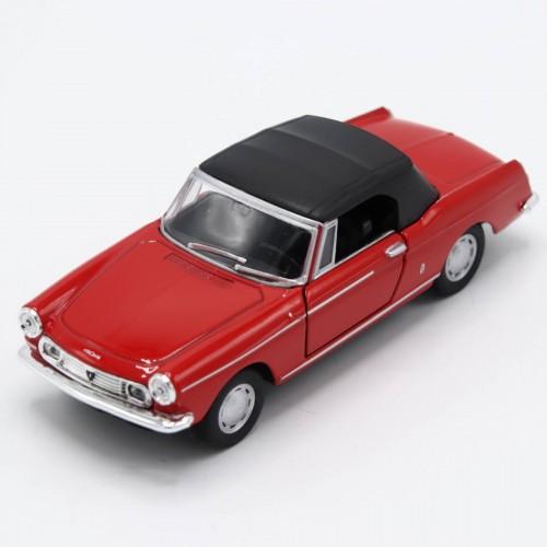 Macheta auto Welly Die Cast Metal Old Timer Peugeot 404 Cabriolet 1:34