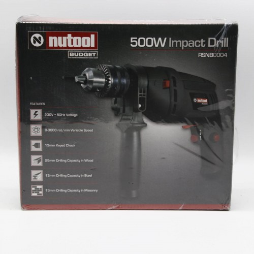 Masina de gaurit cu percutie Nutool Budget RSNB0004 - 500 W, 3000 Rpm