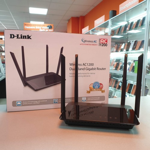 Router Wireless D-Link AC1200 - Dual Band Gigabit