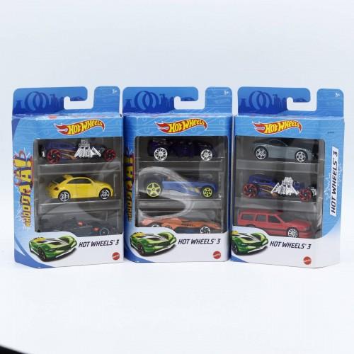 Set 3 Machete auto Hot Wheels Die-Cast, K5904, 1:64