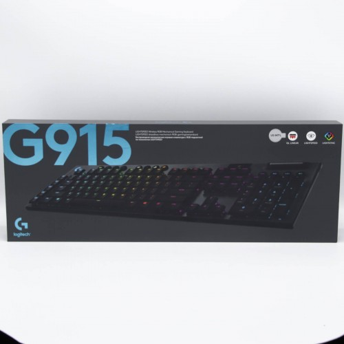 Tastatura mecanica gaming Logitech G915, Wireless, Ultraslim, Lightspeed, Lightsync RGB, Switch Liniar