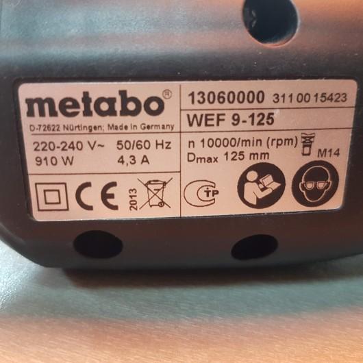 Polizor unghiular Metabo WEF 9-125